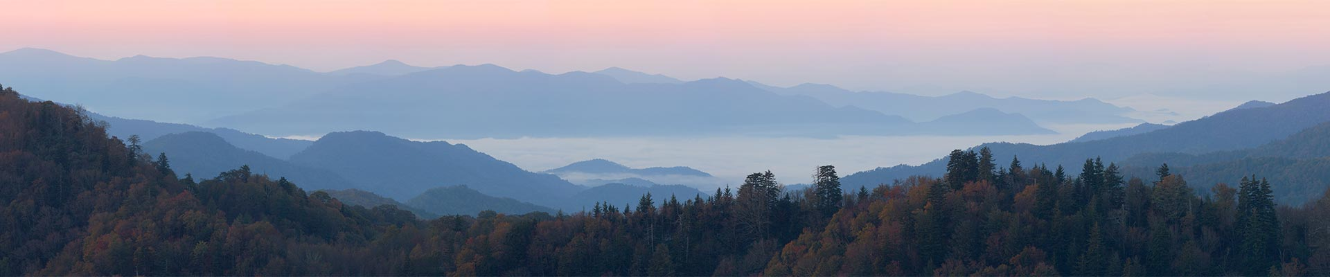 Smokey Mountains at Sunset